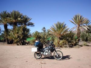 With the motorcycle by Morocco